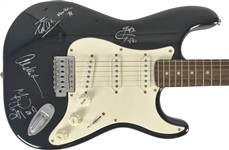 Van Halen Group Signed Stratocaster Guitar w/ 4 Signatures! (REAL/Epperson)