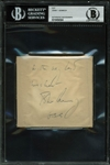"President John F. Kennedy Signed Album Page with ""Best Wishes"" Inscription (Beckett/BAS Encapsulated)"