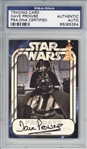 David Prowse Signed 2008 Official Pix Star Wars Fan Days Autograph Card (PSA/DNA Encapsulated)