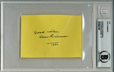 "The Perfect Obi-Won: Alec Guinness Vintage c. 1986 Signed 2.75"" x 3.75"" Album Page - Beckett/BAS Graded GEM MINT 10!"