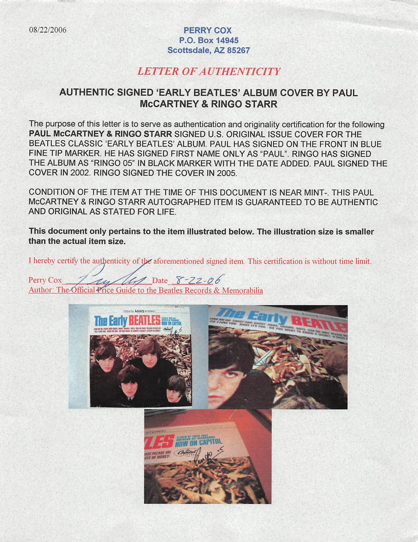 Lot Detail - The Beatles: Paul McCartney & Ringo Starr Rare