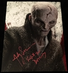 "Andy Serkis Signed 11"" x 14"" Photograph from ""The Last Jedi"" (Beckett/BAS Guaranteed)"