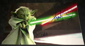 "Frank Oz Signed 8"" x 12"" Color Photo with ""Yoda"" Inscription (Beckett/BAS Guaranteed)"