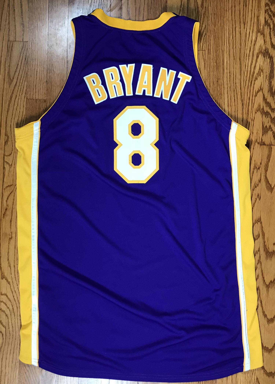 0e2e9ee9 ... 2000-01 Kobe Bryant Game Worn NBA Finals LA Lakers Jersey (DC Sports)  ...