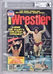 Andre The Giant Near-Mint Signed 1976 Wrestler Magazine (Beckett/BAS)