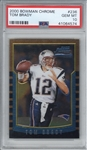 Tom Brady 2000 Bowman Chrome Rookie Card - PSA GEM MINT 10!