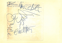 "Cream Vintage Group Signed 3.5"" x 4"" Album Page w/ Clapton, Bruce & Baker! (REAL/Epperson)"