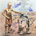 The Story of Star Wars Cast Signed Album Signed by Ford, Lucas, Hamill, etc. (8 Sigs)(PSA/DNA)