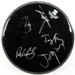 "Aerosmith Full Band Signed Remo 16"" Drumhead (BAS/Beckett)"
