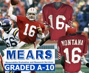 Joe Montana Signed & Game Used 1985-87 San Francisco 49ers Jersey - MEARS Graded Perfect A-10!
