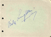 "Count Dracula: Bela Lugosi Signed 4"" x 6"" Album Page (Beckett/BAS Guaranteed)"