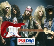 Guns N Roses Group Signed Guitar with All Five Original Members! (PSA/DNA)