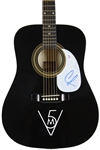 Maroon 5: Adam Levine Signed Black Acoustic Guitar (PSA/DNA)