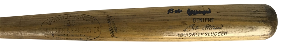 Bob Allison Signed & Game Used 1964 K55 Baseball Bat - PSA/DNA GU 8!