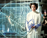 "Carrie Fisher Signed Star Wars Celebration II 8"" x 10"" Color Photograph (Beckett/BAS)"