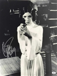 "Star Wars: Carrie Fisher Signed 16"" x 20"" B&W Photograph (BAS/Beckett)"