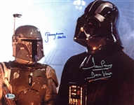 "Darth Vader & Boba Fett Signed 11"" x 14"" Color Photo w/ Prowse & Bulloch (BAS/Beckett)"