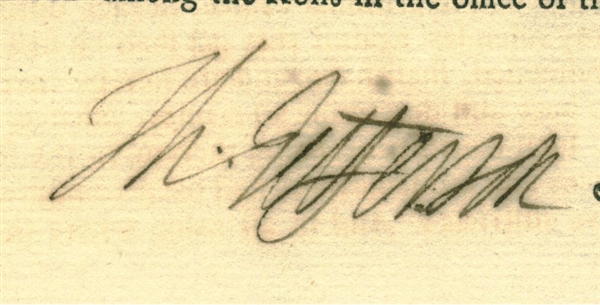 Thomas Jefferson ULTRA-RARE Signed Second United States Congress 1793 Indian Trade Act Approved By Washington! (Beckett/BAS Guaranteed)