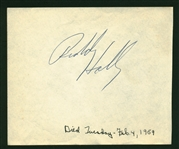 "Buddy Holly Signed 5"" x 4.5"" Vintage Album Page (REAL/Epperson)"