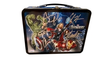 The Avengers Rare Cast Signed Lunchbox w/ 6 Signatures (BAS/Beckett Guaranteed)