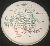 "Lynyrd Skynyrd: Artimus Pyle Signed 12"" Drumhead with Elaborate Sketch & Inscriptions (BAS/Beckett Guaranteed)"