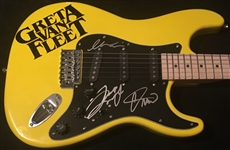 Greta Van Fleet Rare Multi-Signed Stratocaster-Style Guitar w/ the Kiszka Brothers (BAS/Beckett Guaranteed)