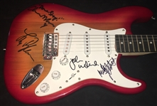 Fleetwood Mac Group Signed Stratocaster-Style Guitar w/ Rare 4 Sigs (BAS/Beckett Guaranteed)