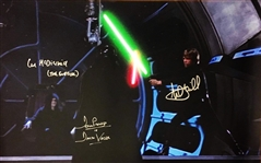 "Star Wars Multi-Signed & Inscribed 16"" x 24"" Photo from ""Return of the Jedi"" w/ Hamill, Prowse & McDiarmid! (Beckett/BAS Guaranteed)"