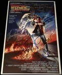 "Back the Future 2 Multi-Signed 12"" x 18"" Movie Poster w/ Michael J. Fox, Christopher Lloyd and 6 More (Beckett/BAS Guaranteed)"