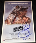 "Star Wars: Frank Oz Signed 12"" x 18"" ""The Empire Strikes Back"" Poster (Beckett/BAS Guaranteed)"