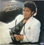 "Michael Jackson Signed ""Thriller"" Album with Superb Signature - One Of The Best In The Hobby! (Beckett/BAS)"