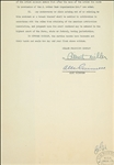 Star Wars: Alec Guinness Signed & Initialed Three Page 1949 Acting Contract (Beckett)