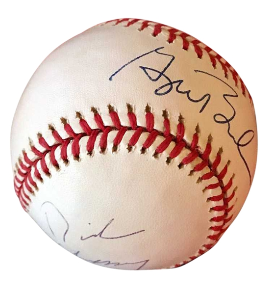 President George W. Bush & Vice President Dick Cheney Dual-Signed OAL Baseball (JSA)