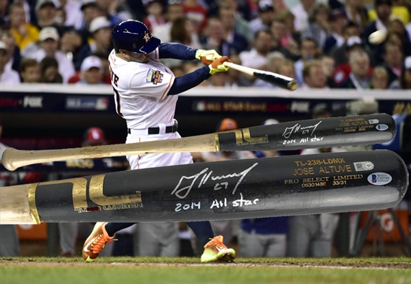 Jose Altuve Signed & Game Used 2014 All-Star Game Baseball Bat w/ Direct Photomatch! (MLB & Beckett/BAS)