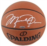 Michael Jordan Superb Signed Spalding NBA Game Model Basketball with Desirable Silver Marker Autograph! (UDA & Beckett/BAS)