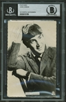 "The Beatles: John Lennon Vintage Signed 3"" x 5"" Promotional 1962 Photograph (Beckett Encapsulated)"