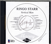 "The Beatles: Ringo Starr Signed ""Vertical Man"" Promo CD (Beckett/BAS)"