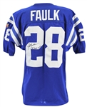 Marshall Faulk 1995 Game Used & Signed Indianapolis Colts Jersey (Beckett/BAS & MEARS Graded 7.5)