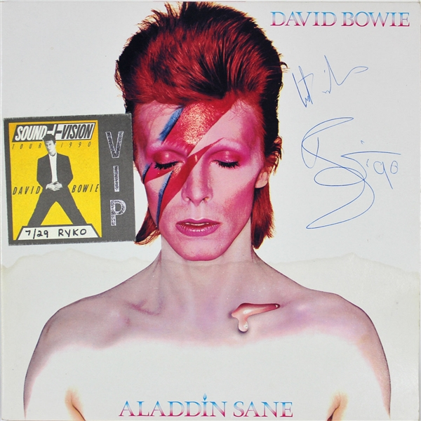 David Bowie Signed Aladdin Sane Record Album (Beckett/BAS)
