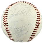 1970 Pittsburgh Pirates Team-Signed ONL Baseball w/ 22 Sigs incl. Clemente (PSA/DNA Graded NM-MT 7)