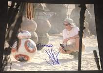 "BB-8: J.J. Abrams & Christian Alzmann Dual-Signed 11"" x 14"" Photograph (BAS/Beckett Guaranteed)"
