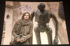 "Star Wars: Felicity Jones & Alan Tudyk Dual-Signed 16"" x 20"" Photo from ""Rogue One"" (BAS/Beckett Guaranteed)"