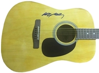Willie Nelson Signed Acoustic Guitar (BAS/Beckett Guaranteed)
