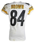 Antonio Brown Game Used & Signed 2013 Pittsburgh Steelers Jersey Versus Oakland Raiders! (Photo Match & Iconic LOA)