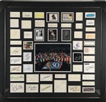 NBA 50 Greatest Players Framed Signature Display w/ Jordan, Chamberlain, Maravich & Others! (Beckett/BAS Guaranteed)