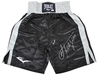 Muhammad Ali & Joe Frazier Signed Everlast Silk Boxing Trunks (PSA/DNA)