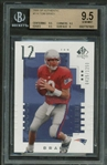 Tom Brady 2000 SP Authentic #118 Rookie Card - Beckett GEM MINT 9.5!