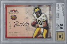 Tom Brady Signed 2000 Fleer Autographics LE Gold 23/50 Rookie Card Beckett/BGS 8.5 w/ 10 Auto!