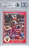 Michael Jordan ULTRA RARE Signed 1985 Star Rookie Card #101 - BGS Signature Graded MINT 9!