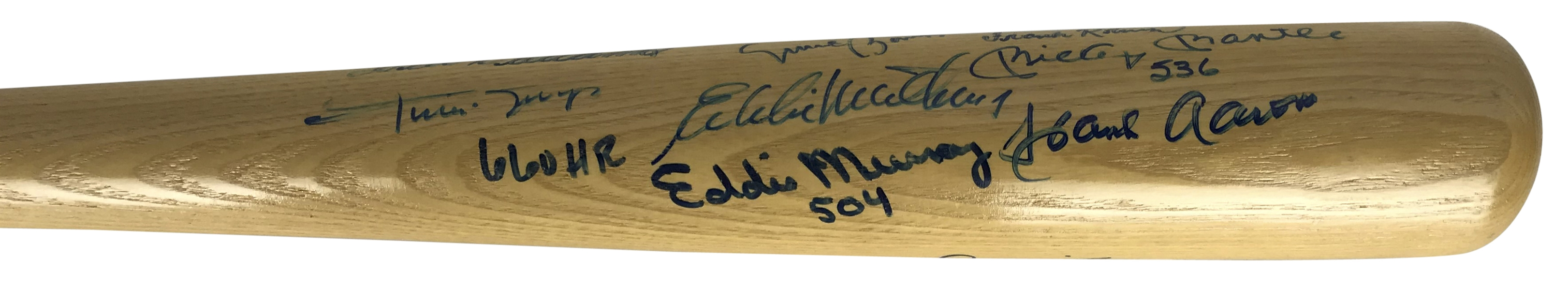 500 Home Run Club Multi-Signed Baseball Bat w/ Incredible 13 Signatures! (Beckett/BAS Guaranteed)